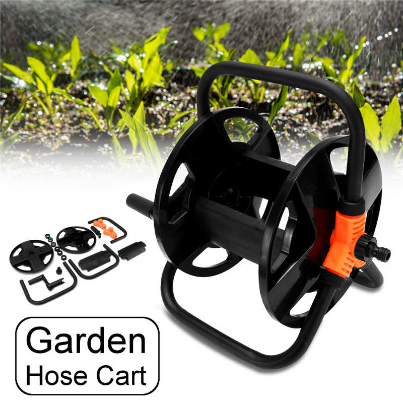Garden Hoses Reel Garden Pipe Storage Cart Pipe Exclude Winding Tool Rack Portable PP Plastic+Metal+Copper