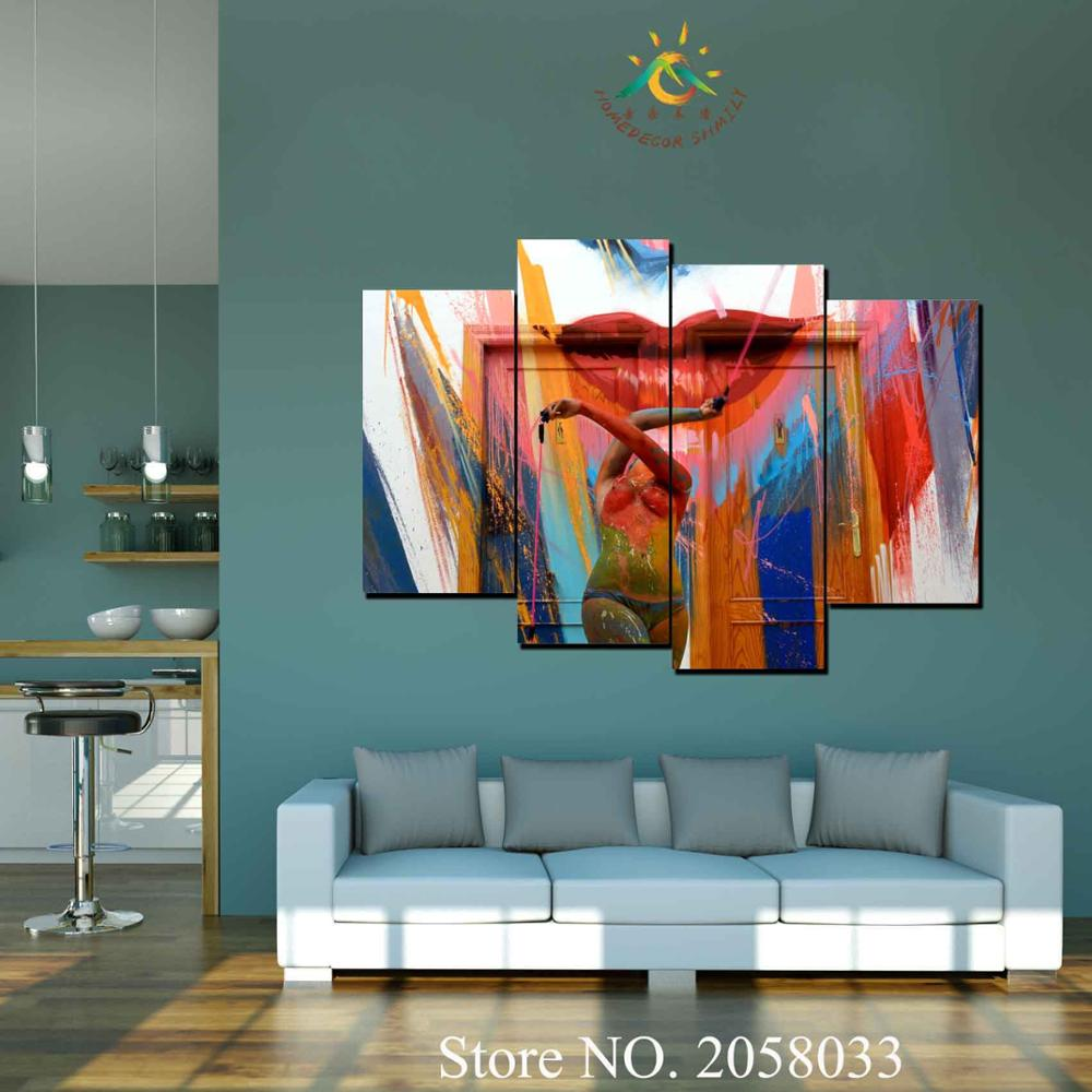 Naked Girl Back Canvas Print Framed Wall Art Home Office Shop Bar Decor Gift DIY