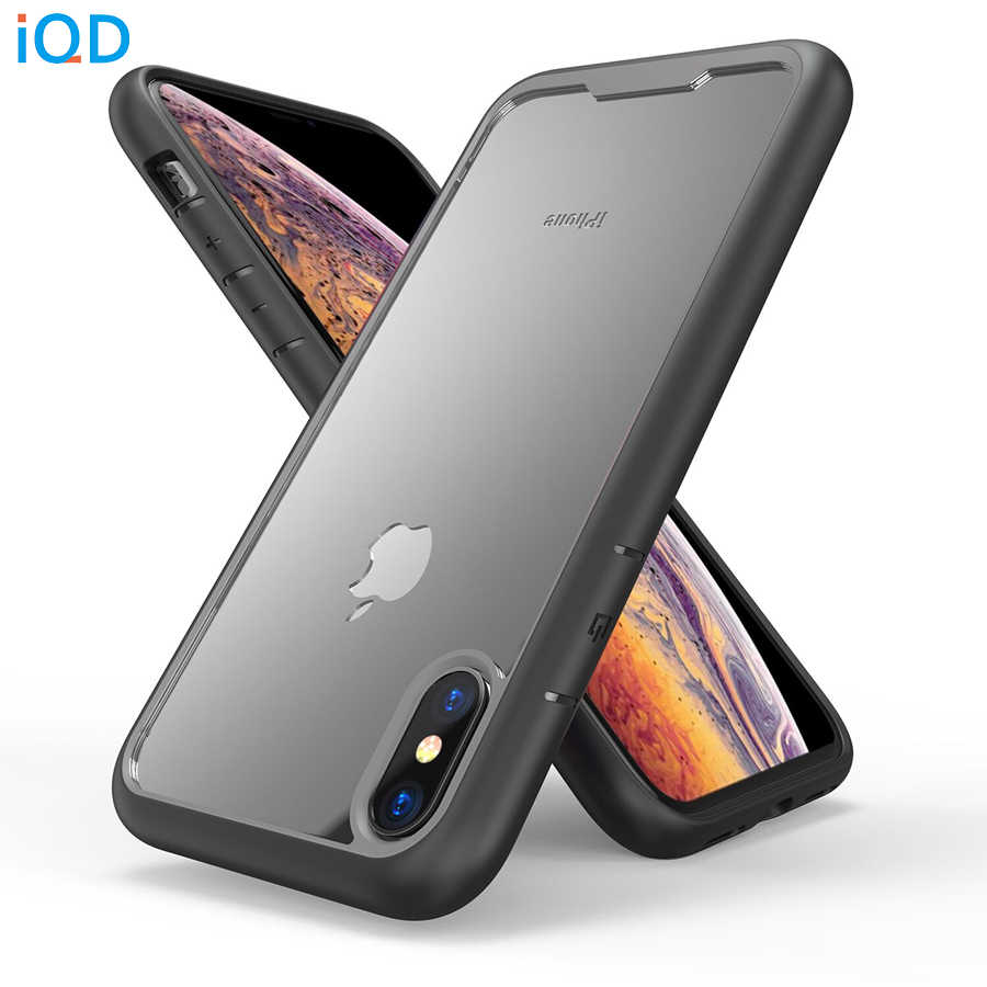 IQD Für iPhone X XS Max XR 7 8 6 6s Plus Fällen TPU Bumper Transparent Zurück Abdeckung schutz fall Anti-herbst Scratch prävention
