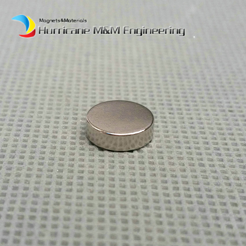 1 Pack Diametrically NdFeB Magnet Disc Dia. 10x3 mm 0.39'' Strong Neodymium Permanent Magnets Rare Earth Magnets NiCuNi Plated 1 pack diametrically ndfeb magnet ring diameter 9 53x3 18x3 18 mm 3 8 1 8 1 8 tube magnetized neodymium permanent magnets