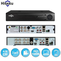 Hiseeu CCTV Mini DVR 4CH 8CH 1080P Digital Video Recorder For AHD Camera IP Camera H