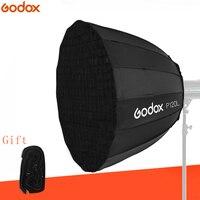 Godox P120L 120 см Глубокий параболический Bowens Mount портативный софтбокс + P120 сетка триггер для студийной вспышки для студийной фотосъемки