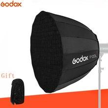 Godox P120L 120 СМ глубоко параболический Bowens портативный софтбокс + P120 сетки для студийной фотовспышки Studio