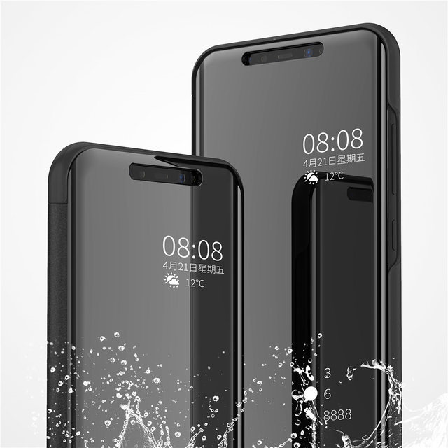 huge selection of 1f44a b4755 US $3.99 |OCUBE Mirror Flip For Redmi Note 5 Pro Note 5A Case PU Leather  Clear View Smart Cover For Xiaomi 8 POCOPHONE F1 Smartphone Cover-in Flip  ...