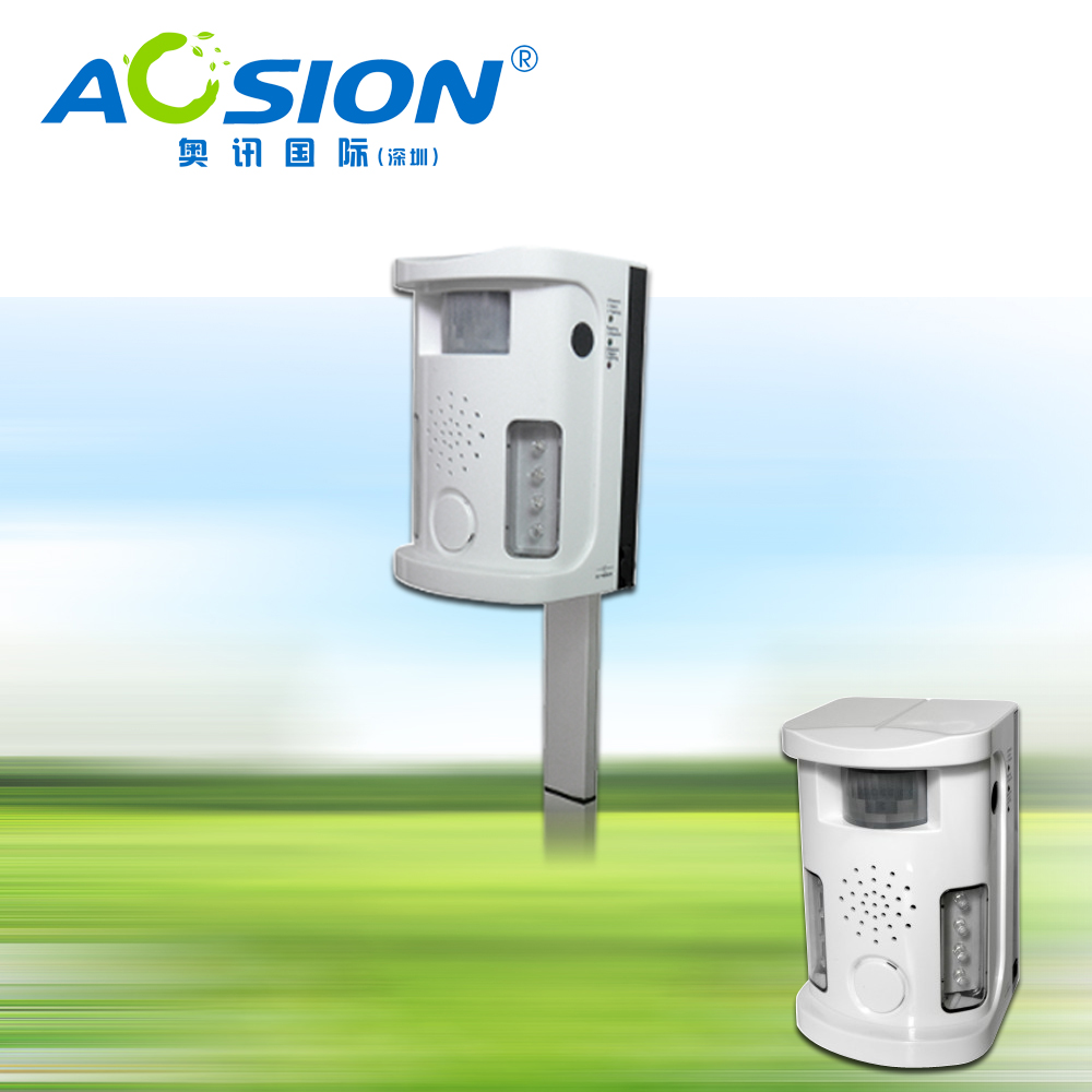 2X Free Shipping Garden Aosion Multifunction electronic Dog cat repeller PIR ultrasonic repel dogs birds cats repeller repellent