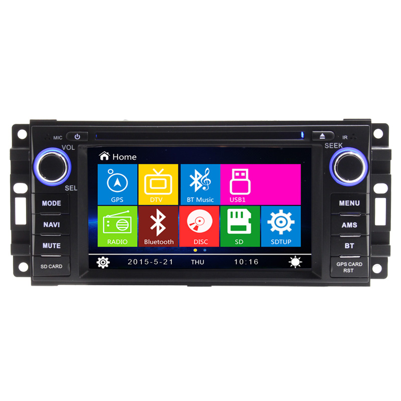 "7"" 2 din Car DVD player FOR <font><b>JEEP</b></font> COMMANDER WRANGLER multimedia GPS Navigation Radio Stereo Audio Video Bluetooth CD function FM"