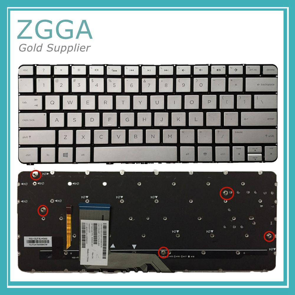 Laptop US keyboards for HP Spectre X360 13-4100dx 13-4103dx 13-4105dx English Keyboard Backlit Silver No Frame best seller laptop keyboards for hp envy15 15 j000 15 j015 ru black with silver frame and backlit 9z n9hbv 40r