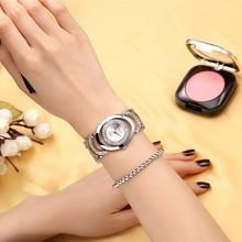 Luxury Brand CRRJU Quartz Watch Women Gold Steel Bracelet Watch 30M waterproof Rhinestone Ladies Dress Watch relogio feminino