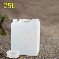 6.5 gallon square plastic barrel Thickened 25L industrial packaging container for water Oil wine Food grade HDPE bucket