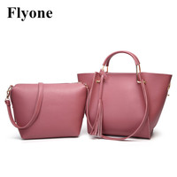 New Fashion Women Composite Bags Set Bag PU Leather Famous Brands Tote Bag Handbags High Quality