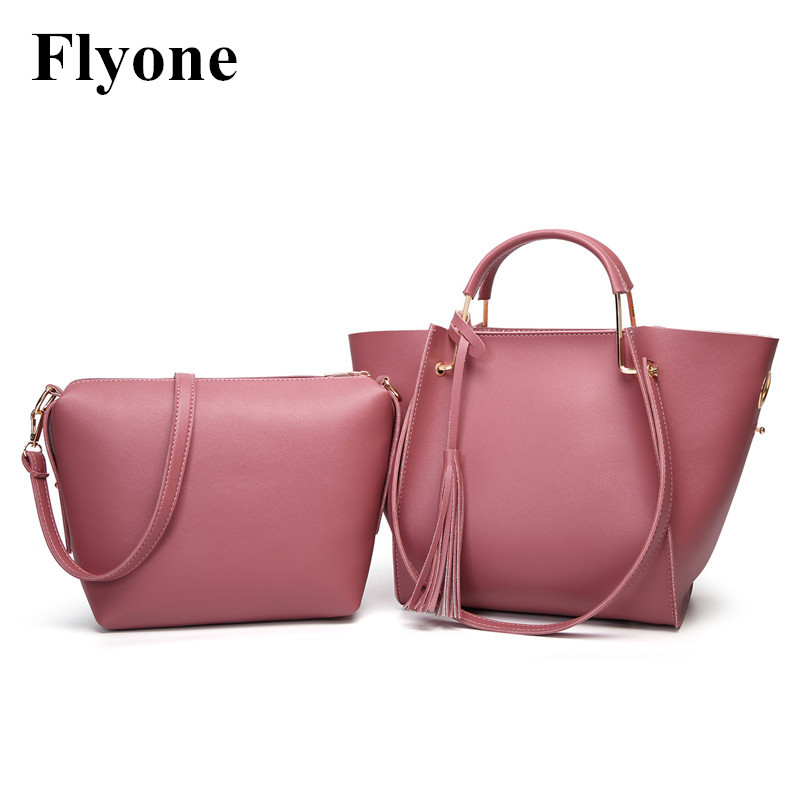 New Fashion Women Composite Bags Set Bag PU Leather Famous Brands Tote Bag Handbags High Quality Single Shoulder Female Handbags new fashion women handbags cartoon printing composite bag set embossed pu leather bag lovely girls totes graffiti shoulder bag