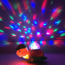 Electric turtle, tortoise will be light, crawling, music turtle, gifts for children! Educational toys W167