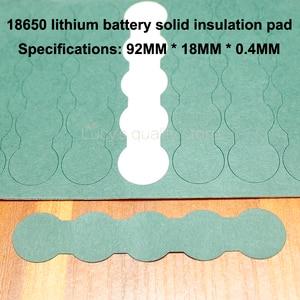 Image 4 - 100 pçs/lote 18650 bateria de lítio positivo oco isolamento almofadas barris negativos concha verde acessórios meson