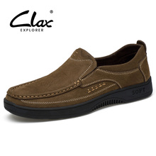 CLAX Men's Shoes Genuine Leather Casual Shoe 2019 Spring Summer Leather Footwear Male Loafers Boat Shoe Slip on Soft Breathable все цены