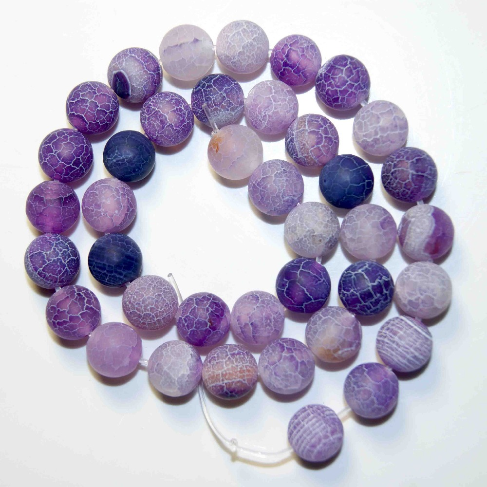 Delicious Wholesale Fashion Natural Stone Free Transport Charm Crack Round 6/8/10 Mm Branelli Relaxed Format Diy Bracelet Jewelry Making Aesthetic Appearance Beads & Jewelry Making