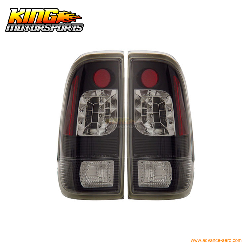 for 2005 2007 06 chrysler 300 300c led tail lights black lamps usa domestic free shipping For 1997-2003 Ford F-150 LED Tail Lights Black Styleside 01 02 USA Domestic Free Shipping