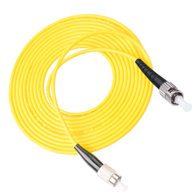 10pcs 3M FC-ST ST Simplex 9/125 SingleMode SM Fiber Optic Cable Patch Cord Jumper