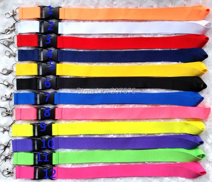 imágenes para Envío gratis 30 unids teléfono cordón de cuello Sólido Blanco color de la mezcla de colección sostenedores de la IDENTIFICACIÓN de ch-23
