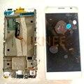 Para alcatel one touch idol x + ot6043 6043 6043d display lcd + touch screen digitador assembléia com frame branco cheio