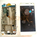 Para alcatel one touch idol x + ot6043 6043 6043d lcd display + touch screen digitalizador asamblea con marco blanco completo