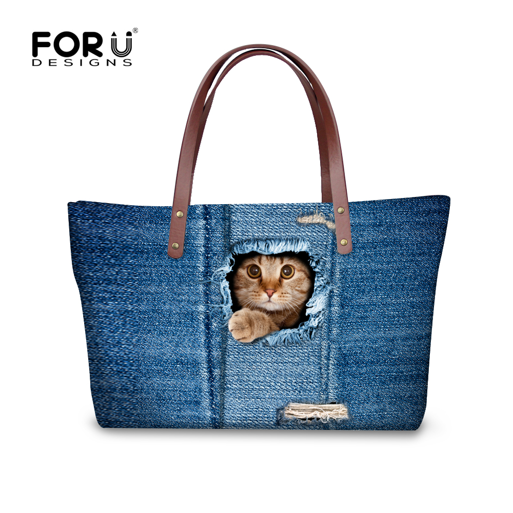 e61184b9b637a Bolsas mujer duża pojemność cute cat dog drukuj kobiety torebki dużego  ciężaru torba zoo zwierząt panie casual torby na ramię marki femininas
