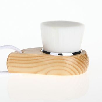 Face Cleansing Pores Brush Skin Care Deep Cleanse Natural Fibres Exfoliator Facial Brush with Comma Holder 2