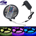 10M 5M 5050 RGB LED strip light non waterproof led light 10M flexible rgb diode led tape set+Remote Control+DC 12V Power Adapter