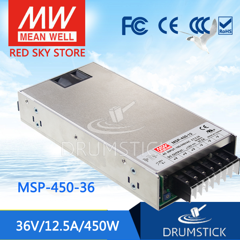 100% Original MEAN WELL MSP-450-36 36V 12.5A meanwell MSP-450 36V 450W Single Output Medical Type Power Supply 100% original mean well msp 100 36 36v 2 9a meanwell msp 100 36v 104 4w single output medical type power supply