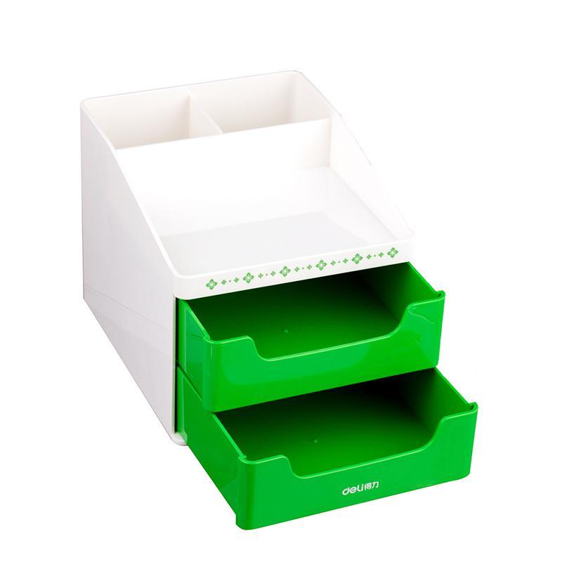 Держатель для канцелярских принадлежностей, аксессуары для стола, резиновая коробка для ног, держатель для канцелярских принадлежностей, канцелярские товары, органайзер для стола - Цвет: L green