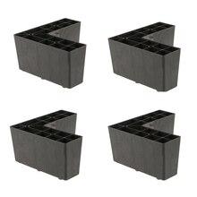 4 Pack Universal Kunststoff Dreieck Möbel Beine Sofa Bein Füße Halter für Setttee Couch Bett Schwarz