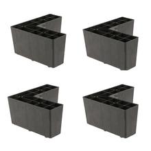 4 Pack אוניברסלי פלסטיק משולש ריהוט רגליים הספה רגל מחזיק עבור Setttee מיטת שחור