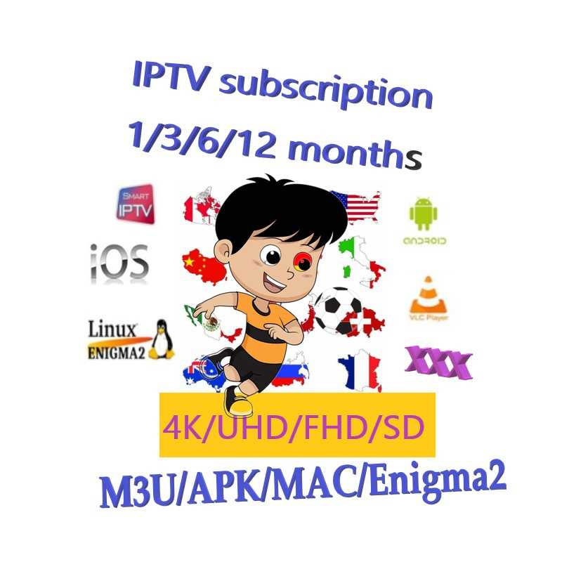 IPTV, Arabic, German, Albanian, Spain, Vietnam, Bangladesh, 5000 Live Channel VOD Adult XXX Subscribed for 1 Year