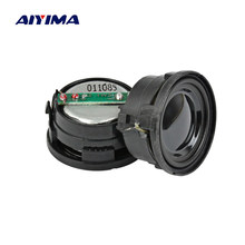 AIYIMA 2Pcs 25MM Mini Audio Portable Speakers 16 Core 8 Ohm 1W Altavoz Portatil Column Speaker For The Computer Music Center(China)