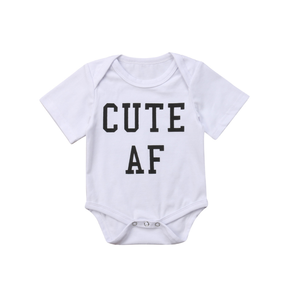 Newborn Infant Kids Baby Boys Short Sleeve Cute Romper Jumpsuit Clothes Outfits