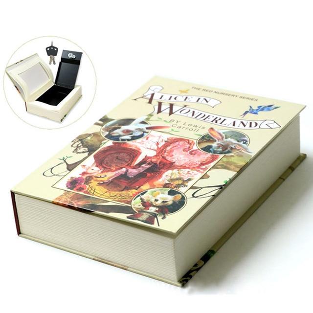 Boek Kluizen Key Lock Type Secret Boek Verborgen Beveiliging Kluis Geld Sieraden Simulatie Classic Book Stijl Doos M Size220 * 152*45mm|Kluizen|   -