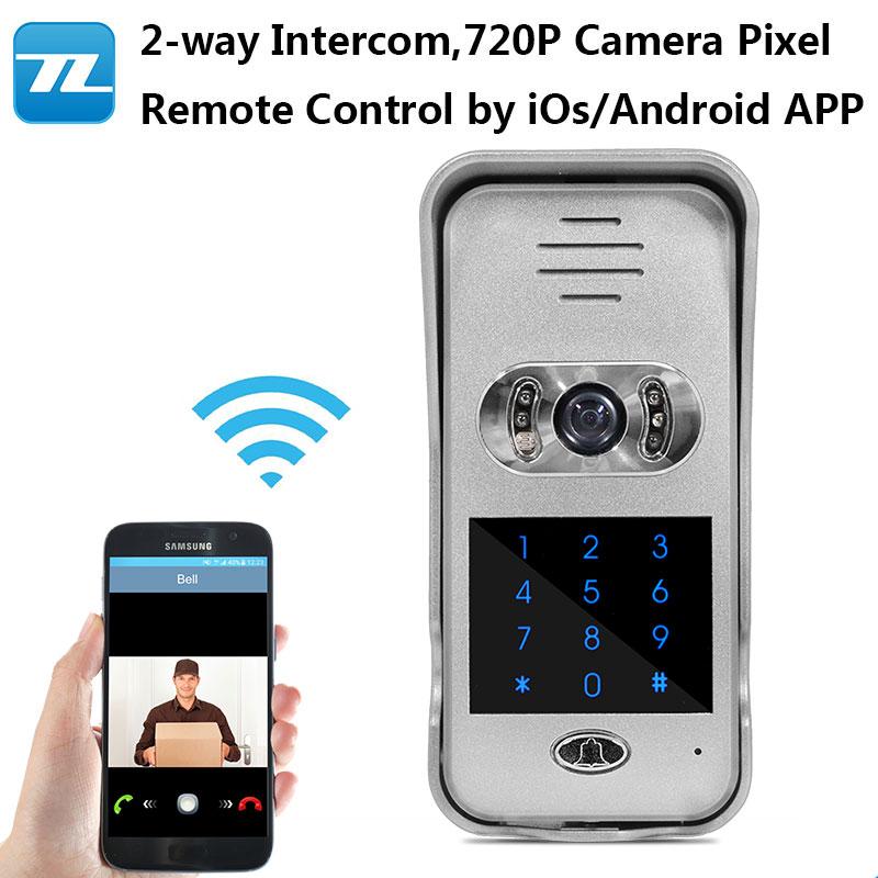 Wf02c New Real Time Video Door Phone Wifi Smart Bell Support Password Unlock Apartment Doorbell Lock In Intercom From Security Protection On