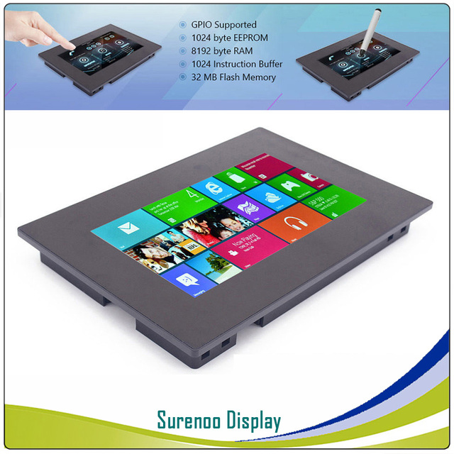 "7.0"" Nextion Enhanced HMI Intelligent Smart USART Serial TFT LCD Module Display Resistive Capacitive Touch Panel w/ Enclosure"