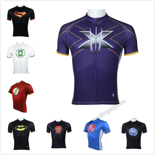Hig Quality Superman Cycling Jersey X-Men bicycle Clothes Bike Jersey Anti  sweat xxxl size leisure sports clothing 63bcf2cb3