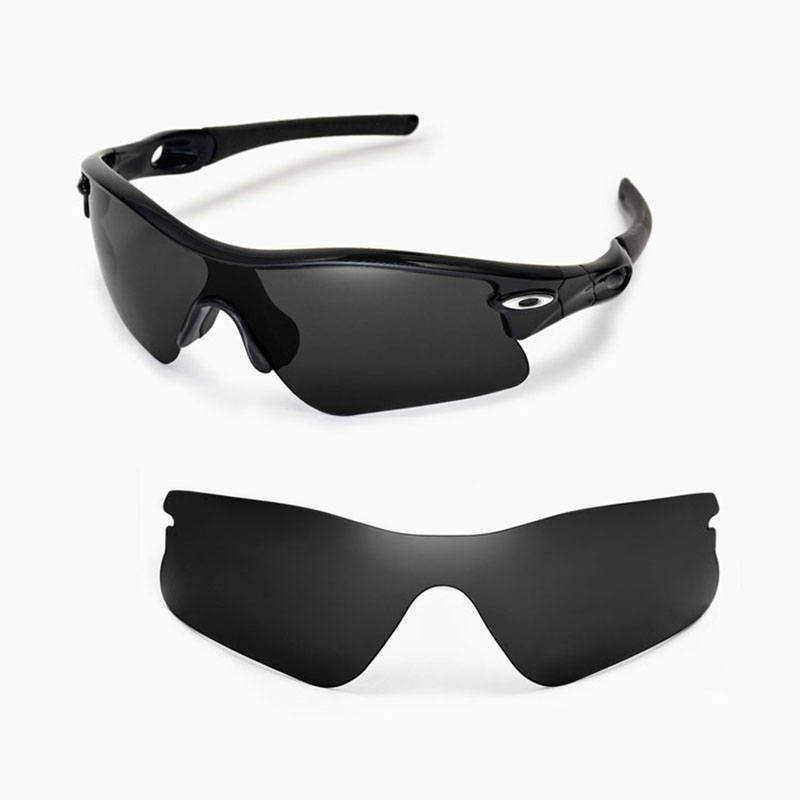 Walleva Polarized Black Replacement Lenses for Oakley Radar Range Sunglasses