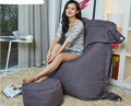 Cinza escuro Beanbag Ao Ar Livre Grande Saco de Feijão Cadeira Do Sofá Do Lazer Mobiliário Funcional