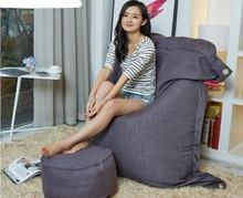 Dark Gray Functional Beanbag Outdoor Large Bean Bag Leisure Sofa Chair Furniture