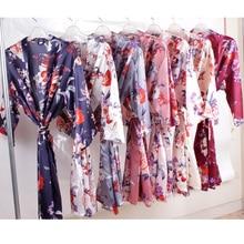 Floral silk robefor women,bride robe ,wedding party gift, se