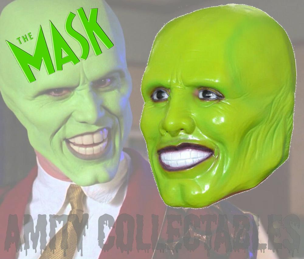 The Jim Carrey Movies Mask Cosplay Green Mask Costume Adult Fancy Dress Face Halloween Masquerade Party Cosplay Mask Fancy dress image