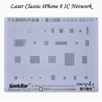 T0.12 Square Hole Tin Planting Network General purpose iPhone 6/6P/6S/6SP/7/7P Tin Planting Plate IC Steel Network iPhone 5