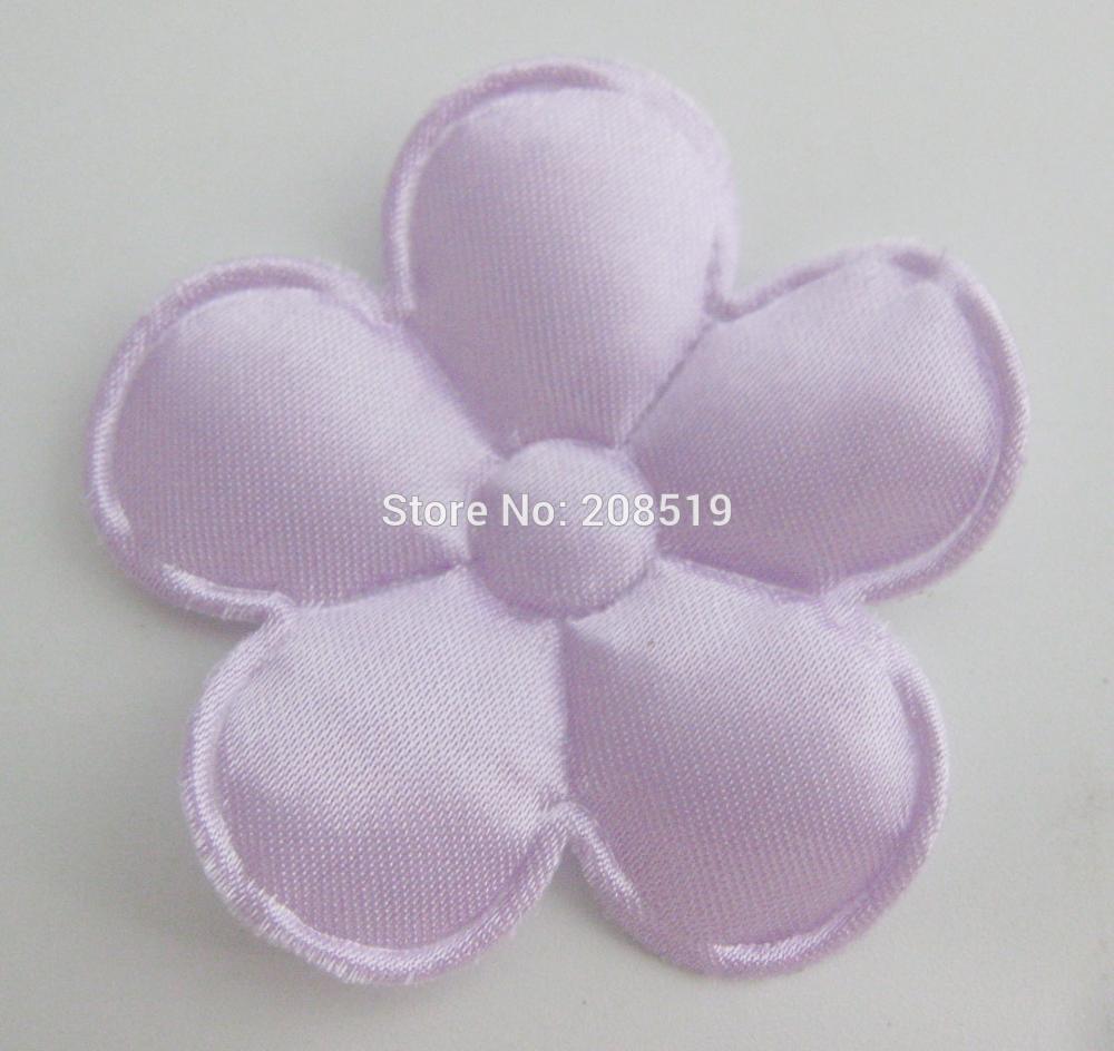 PANVGG 47 мм Цветочные аппликации 12 видов цветов DIY Скрапбукинг Цветочные нашивки 120 шт. головные уборы цветочный орнамент войлочный - Цвет: Lilac 47mm