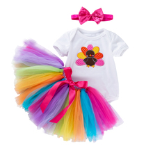 все цены на Baby Girls Newborn Dress Clothes New Cute Babies Suit Infant Clothing Sets Kids Round Neck Outfits Infant Baby Girls Clothing онлайн