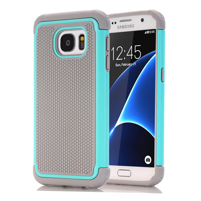wholesale dealer 796b6 2d5ff US $5.99 30% OFF|For Samsung Galaxy S7/S7 Edge/S6/S6 Edge Phone  Cases,Hybrid Dual Layer Protective Cover Hard Plastic+Soft Silicone Rubber  Cases-in ...