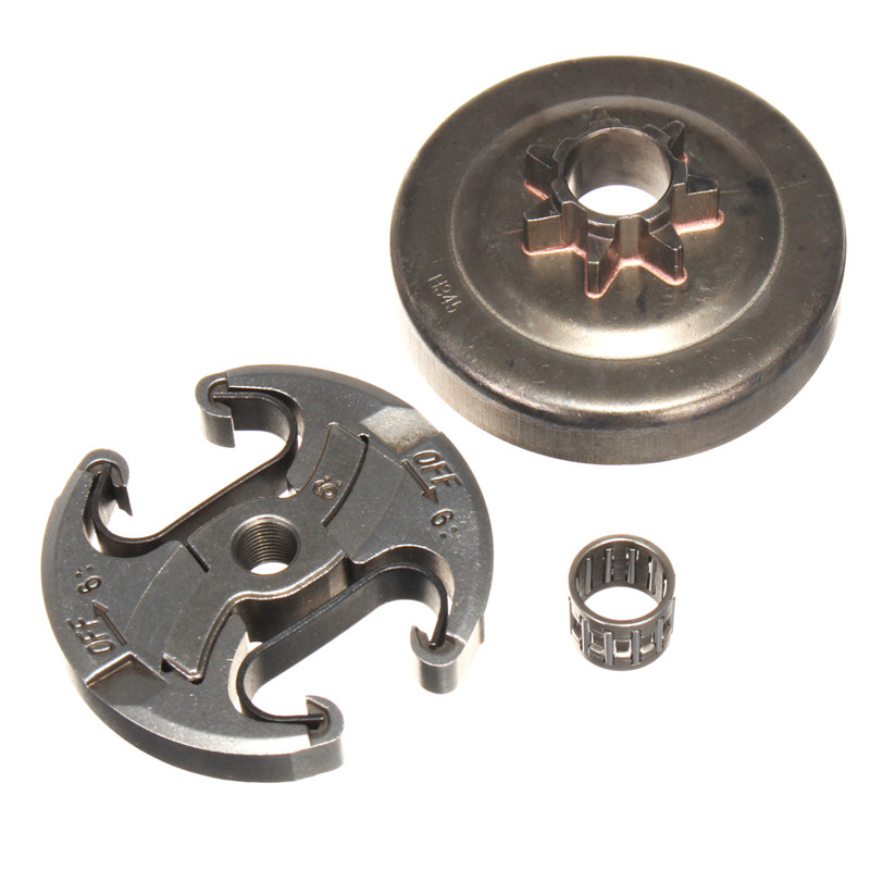 7T Clutch Drum Sprocket Drum Bearings Kit For 340 345 350 351 353 445 450 Chainsaw Bracket Woodworking Replacement Tool Parts