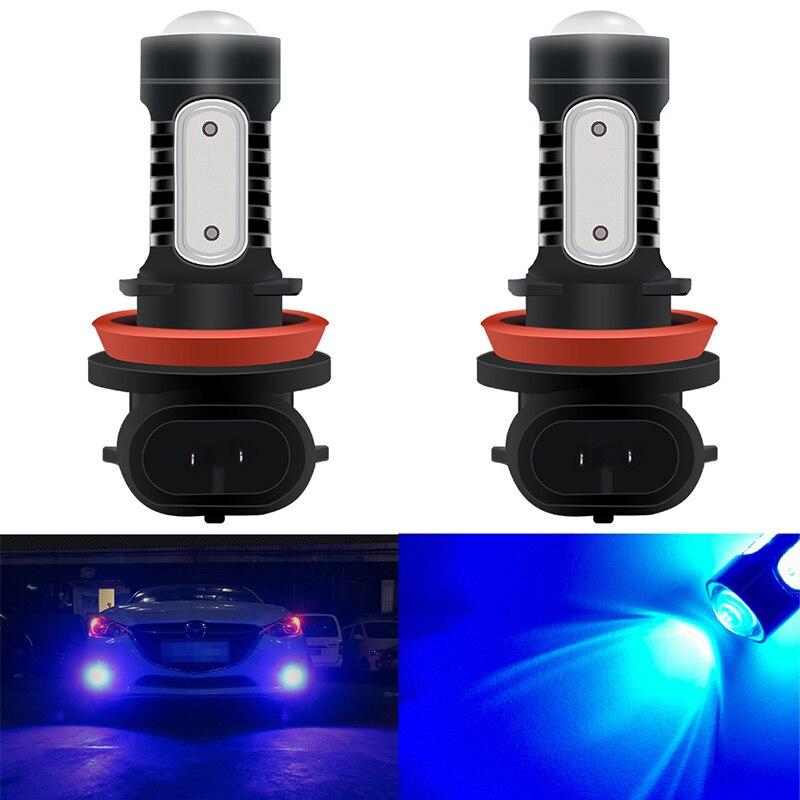 2PCS COB LED Daytime Running Lights Riloer H1 Headlight Bulbs Vehicle Fog Lights White Light