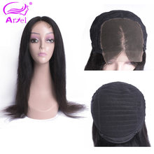 ARIEL Top Lace Front Human Hair Wigs Straight Natural Color Mongolian Remy Hair Wigs For Black Women 130% Density Lace Front Wig(China)